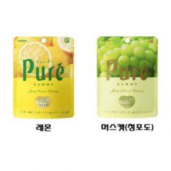 [KANRO] 칸로 퓨어구미 레몬맛 청포도맛 / 머스캣 / 퓨레구미 / 젤리 / 구미 / 일본과자 (특급배송)