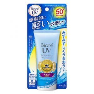 BIORE 비오레 아쿠아 리치 워터리 에센스 기본형 SPF 50+ 50g / 썬크림 / 자외선차단 / 썬스크린 / 썬케어(특급배송)