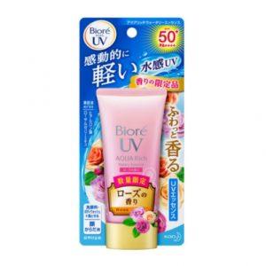 BIORE 비오레 아쿠아 리치 워터리 에센스 Rose SPF 50+ 50g / 장미향 / 썬크림 / 자외선차단 / 썬스크린 / 썬케어 (특급배송)