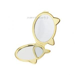 [FRANC FRANC] 프랑프랑 콤팩트 손거울 고양이 얼굴 블랙 / FRANC FRANC COMPACE HAND MIRROR (특급배송)