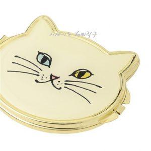 [FRANC FRANC] 프랑프랑 콤팩트 손거울 고양이 얼굴 화이트 / FRANC FRANC COMPACE HAND MIRROR (특급배송)