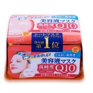 [KOSE] 코세 클리어턴 마스크팩 30매 고순도 Q10 (특급배송)
