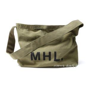 MHL 마가렛 호웰 에코백 / 해비캔버스 숄더백 카키 / MHL HEAVY COTTON CANVAS (특급배송)
