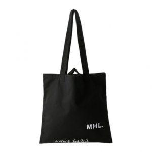 MHL 마가렛 호웰 라이트 코튼 토트백 블랙 / 에코백 / 토트백 MHL LIGHT COTTON DRILL (특급배송)