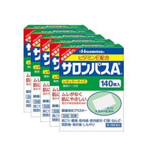 [건강제품모음] 샤론파스(사론파스) 일본국민파스 효과보장140매입 5개세트